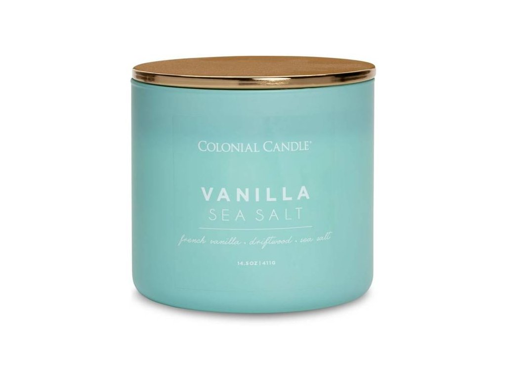 Colonial Candle svíčka Pop Of Color Vanilla Sea Salt, 411 g