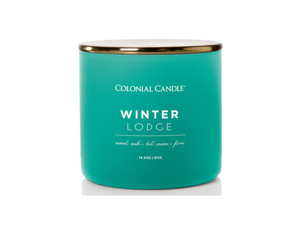 Colonial Candle svíčka Pop Of Color Winter Lodge, 411 g