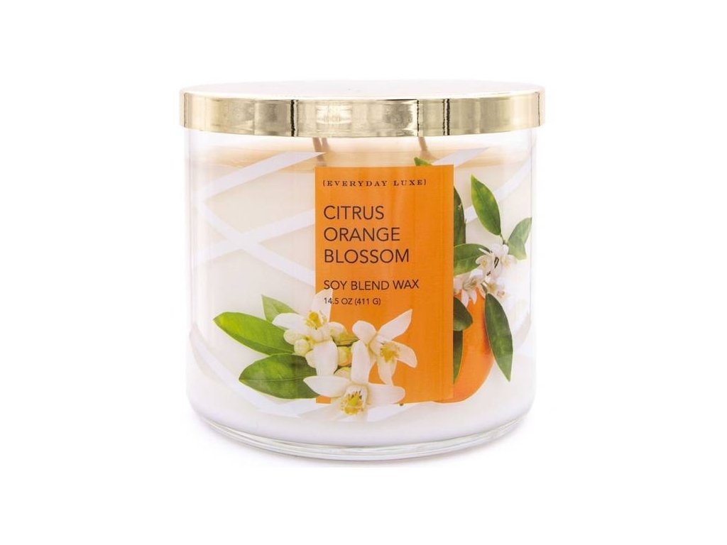Colonial Candle svíčka Luxe Citrus Orange Blossom, 411 g