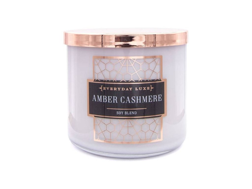 Colonial Candle svíčka Luxe Amber Cashmere, 411 g