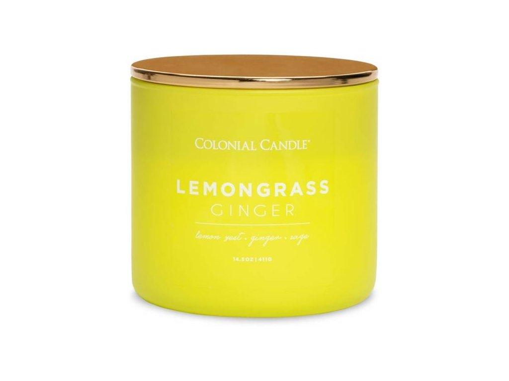 Colonial Candle svíčka Pop Of Color Lemongrass Ginger, 411 g