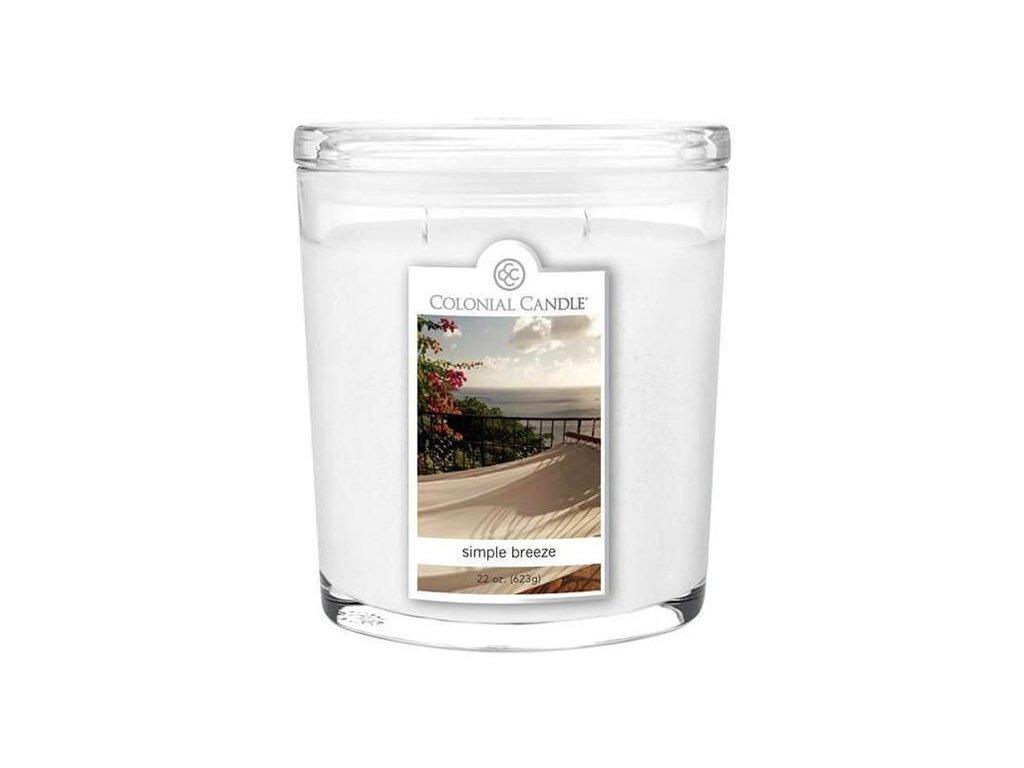 Colonial Candle svíčka Oval Simple Breeze, 623 g