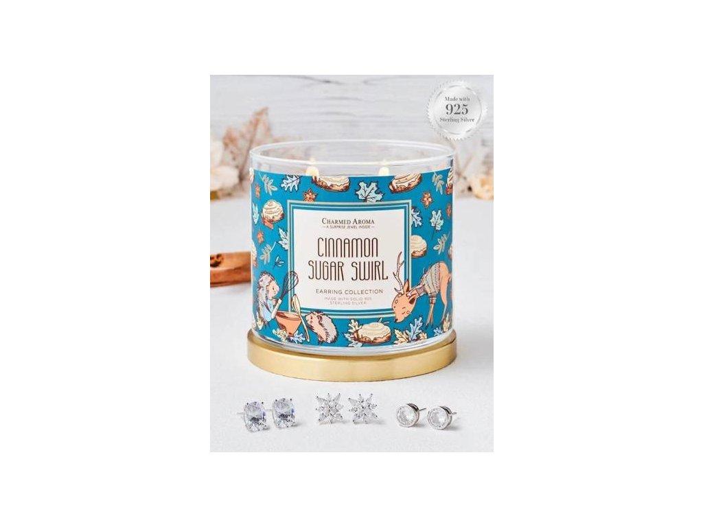 Charmed Aroma svíčka Cinnamon Sugar Swirl (náušnice), 340 g