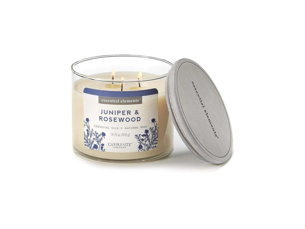 Candle-Lite Essential Elements svíčka Juniper & Rosewood, 418 g