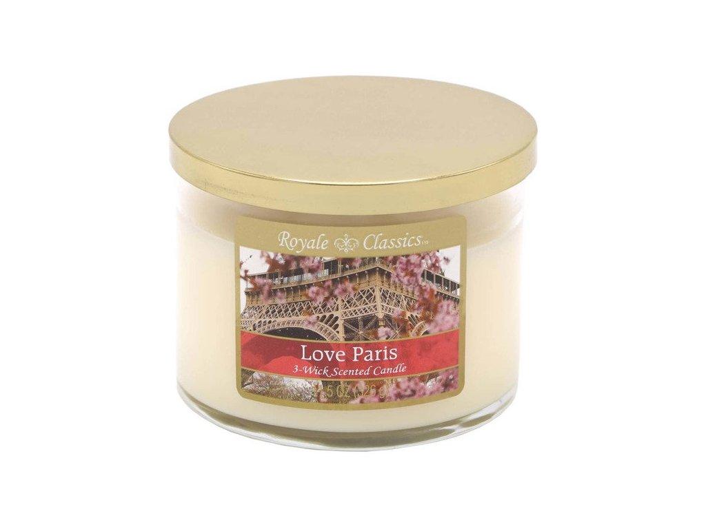 Candle-Lite Royale Classics svíčka Love Paris, 326 g