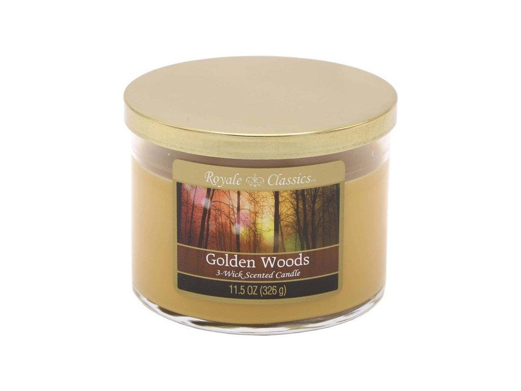 Candle-Lite Royale Classics svíčka Golden Woods, 326 g