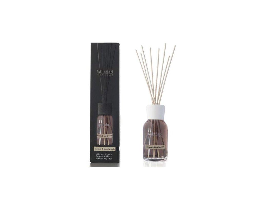 Millefiori Natural Incense & Blond Woods aroma difuzér 250 ml