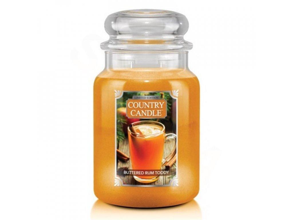 Country Candle Vonná Svíčka Buttered Rum Toddy, 652 g