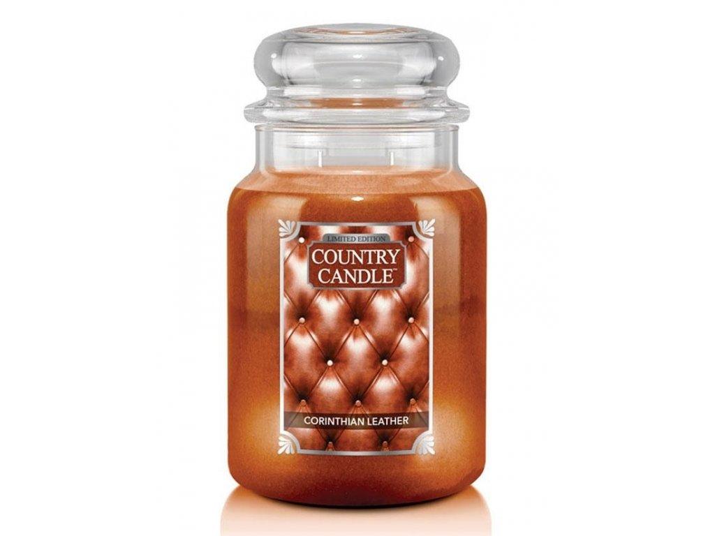 Country Candle Vonná Svíčka Corinthian Leather, 652 g