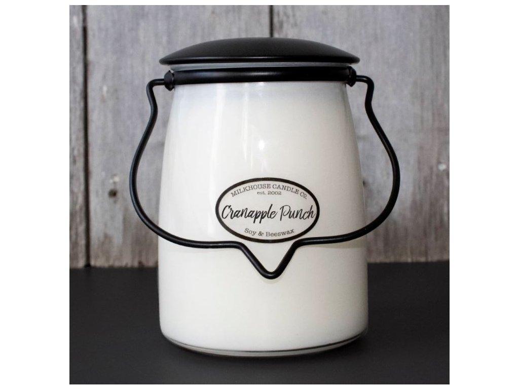Milkhouse Candle svíčka Cranapple Punch, 624 g