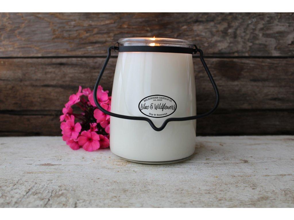 Milkhouse Candle svíčka Lilac & Wildflowers, 624 g