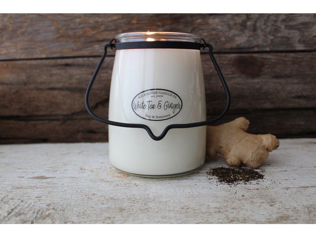 Milkhouse Candle svíčka White Tea & Ginger, 624 g