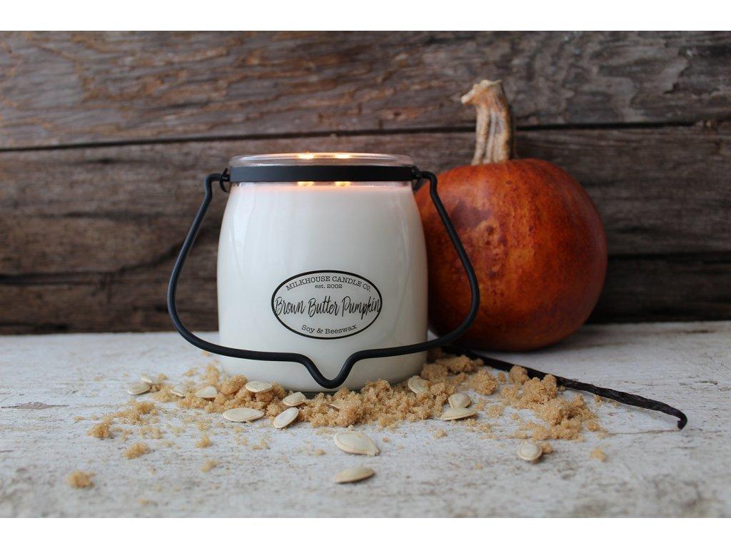 Milkhouse Candle svíčka Brown Butter Pumpkin, 454 g