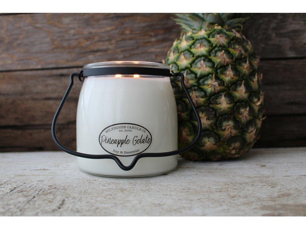 Milkhouse Candle svíčka Pineapple Gelato, 454 g
