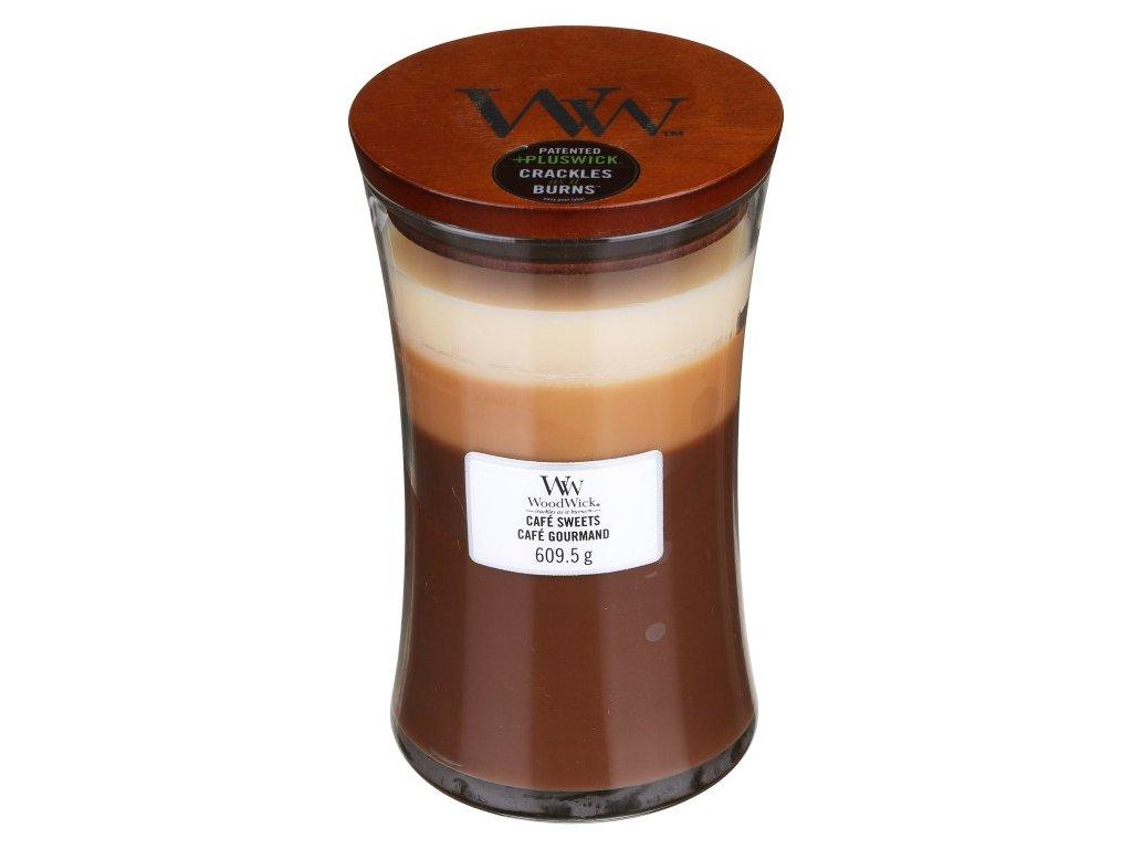 WoodWick Trilogy Café Sweets Svíčka váza velká, 609,5 g
