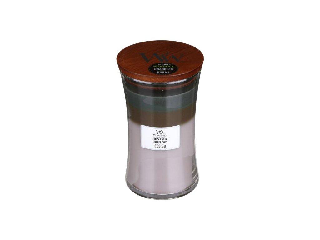 WoodWick Trilogy Cozy Cabin Svíčka váza velká, 609,5 g