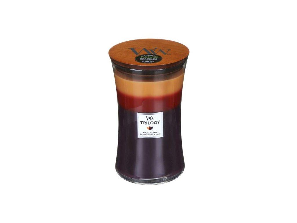 WoodWick Trilogy Holiday Cheer Svíčka váza velká, 609,5 g