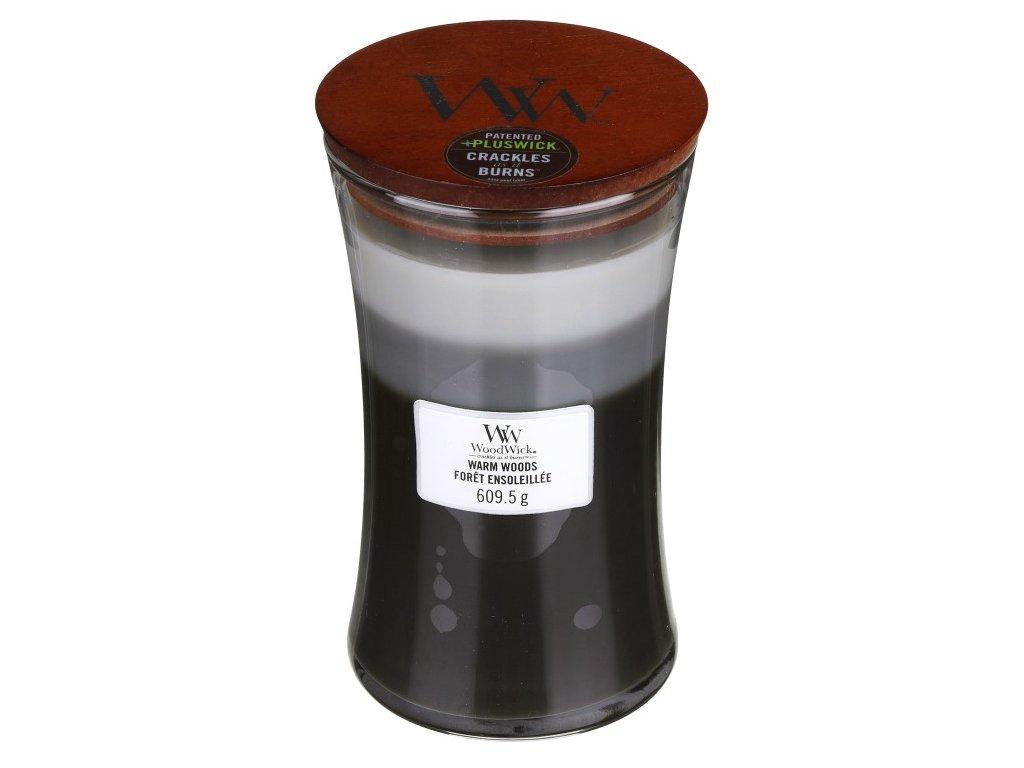 WoodWick Trilogy Warm Woods Svíčka váza velká, 609,5 g