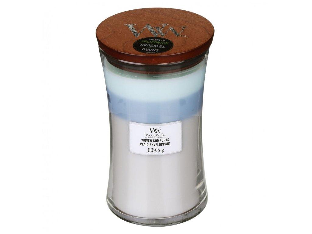 WoodWick Trilogy Woven Comforts Svíčka váza velká, 609,5 g