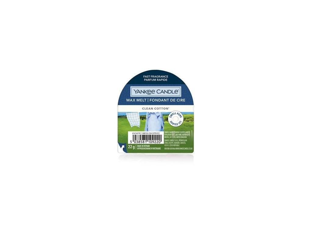 Yankee Candle - Clean Cotton Vosk do aromalampy, 22 g