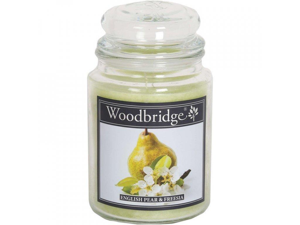 Woodbridge svíčka English Pear & Freesia, 565 g