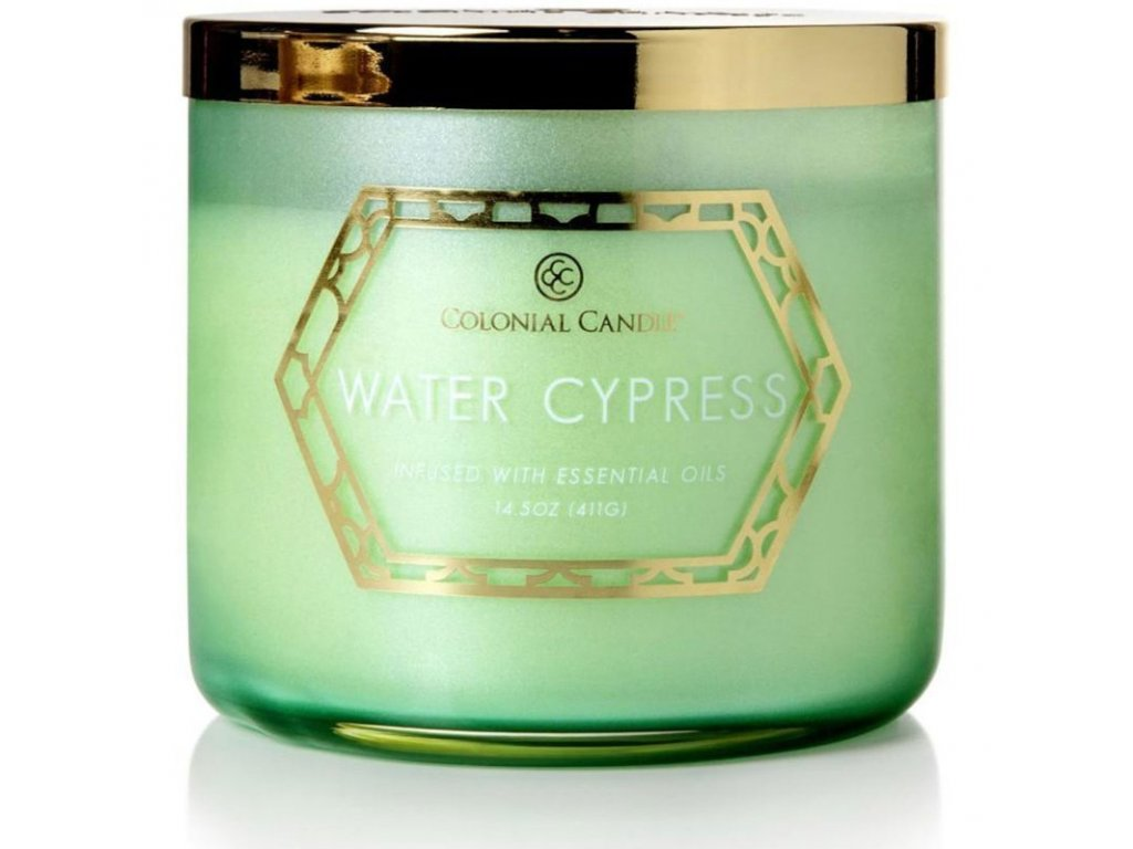 Colonial Candle svíčka Luxe Water Cypress, 411 g