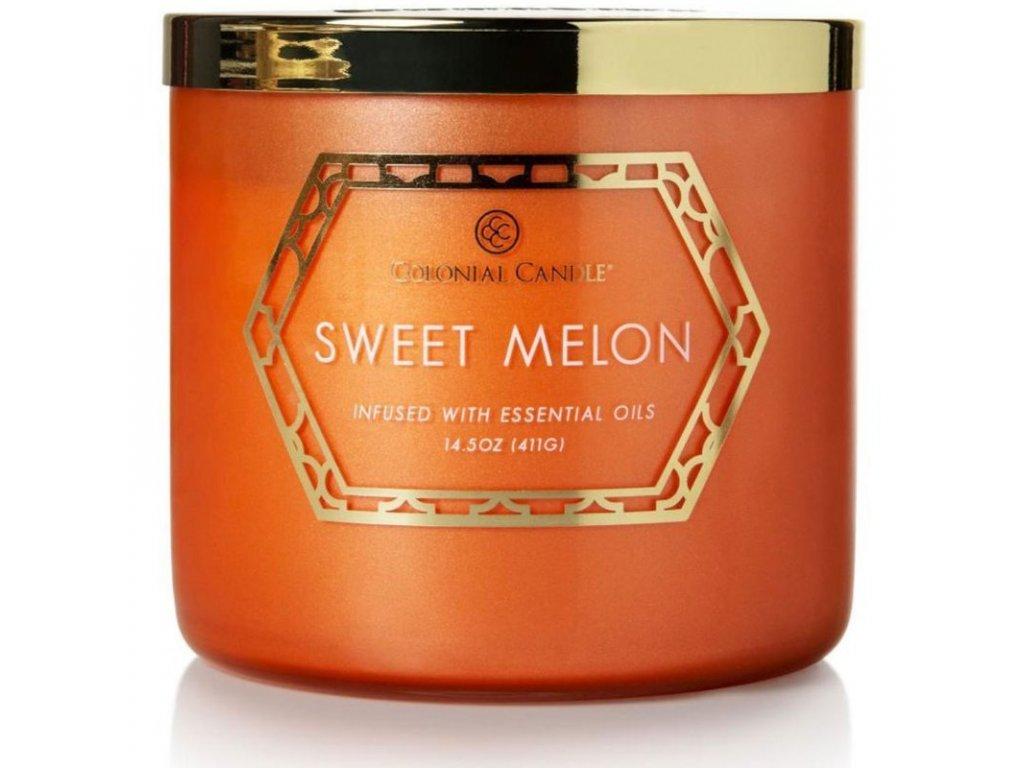 Colonial Candle svíčka Luxe Sweet Melon, 411 g