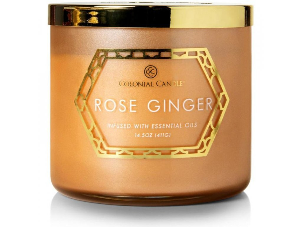 Colonial Candle svíčka Luxe Rose Ginger, 411 g