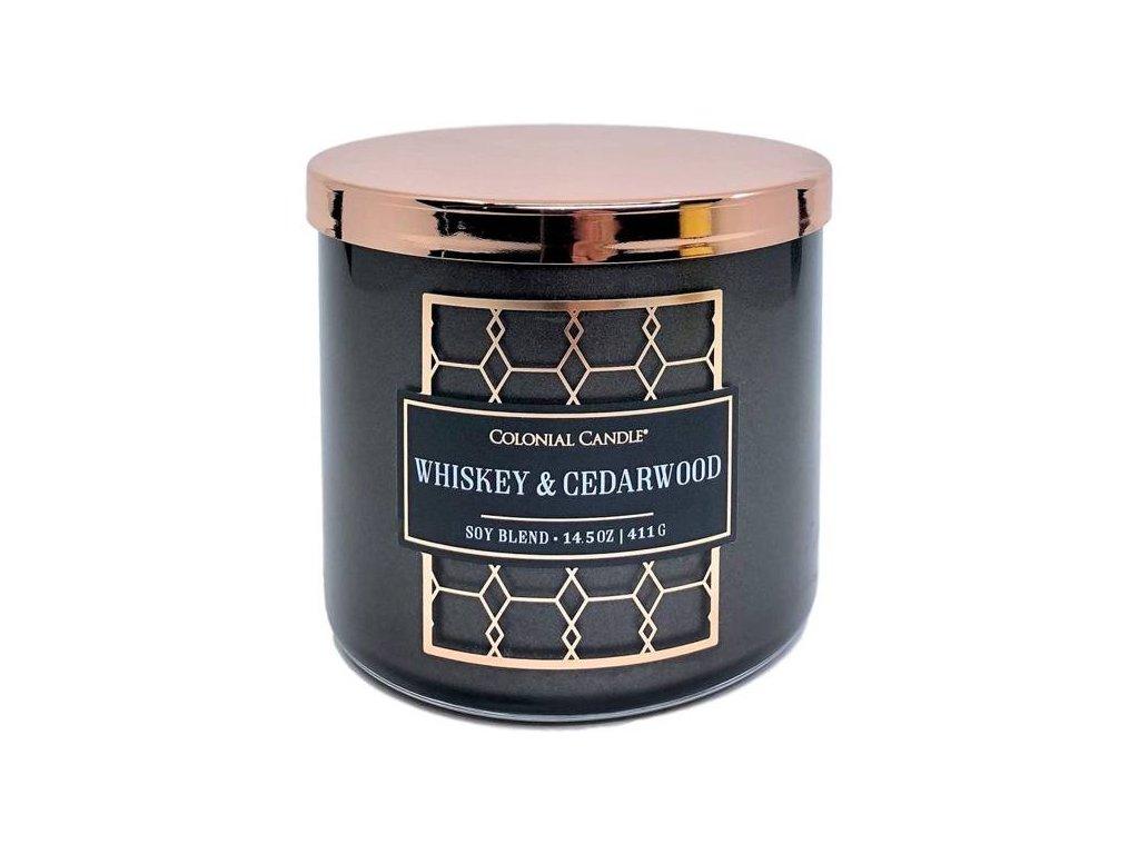 pol pm Colonial Candle Luxe sojowa swieca zapachowa w szkle 3 knoty 14 5 oz 411 g Whiskey Cedarwood 8215 1