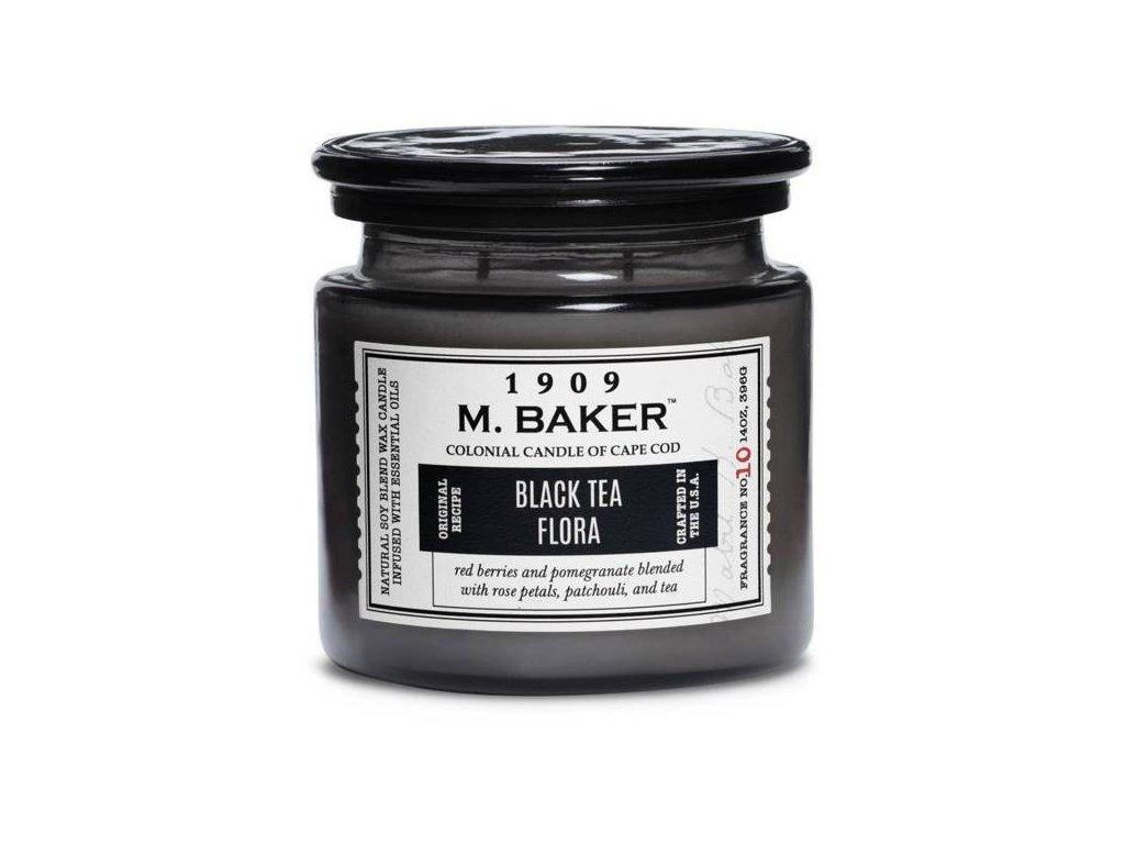 pol pm Colonial Candle M Baker duza sojowa swieca zapachowa w sloju 14 oz 396 g Black Tea Flora 8618 3