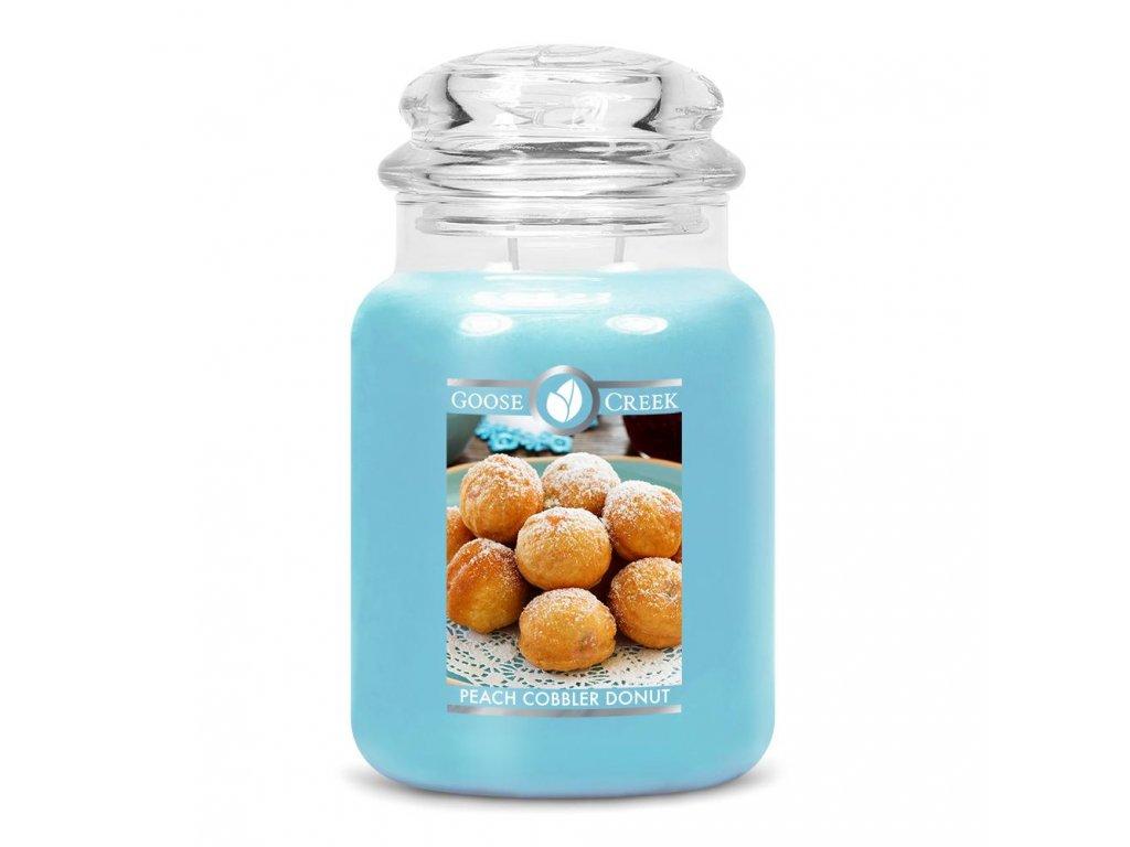 Peach Cobbler Donut Large Jar Candle 1024x1024
