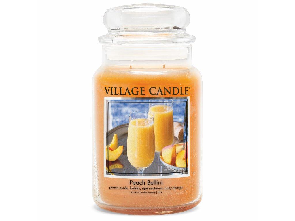 Village Candle Vonná svíčka Broskvové Bellini - Peach Bellini, 602 g