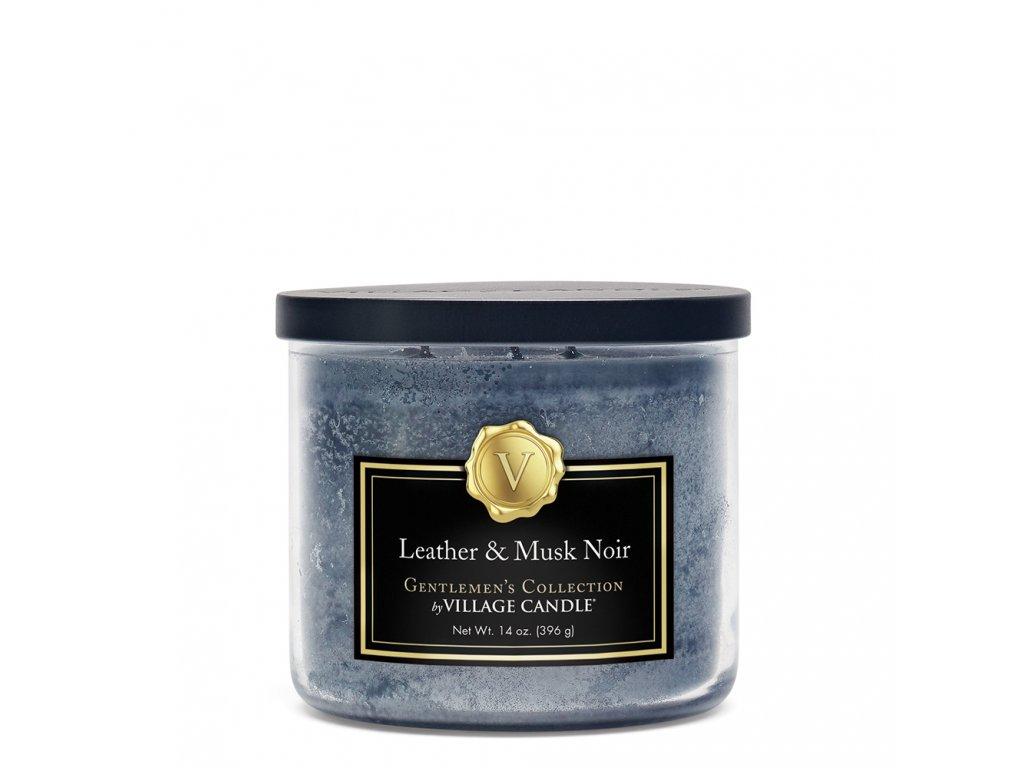 leather & musk noir medium bowl candle 4170067