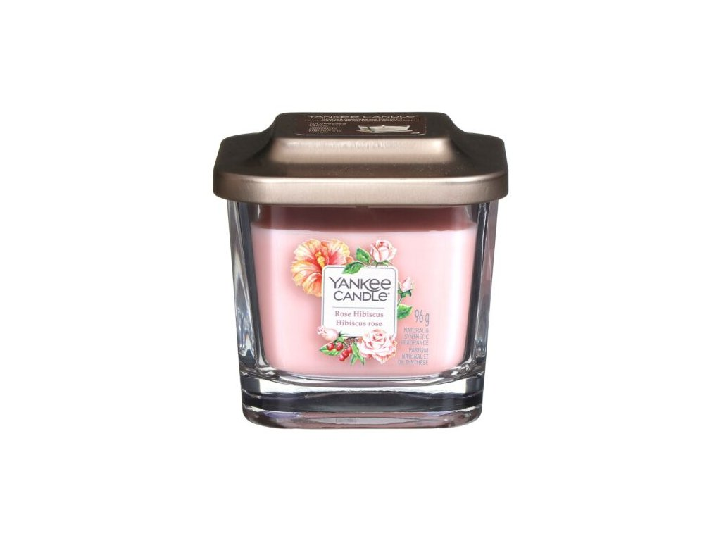 yankee 1630528e rose hibiscus small elevate candle 2