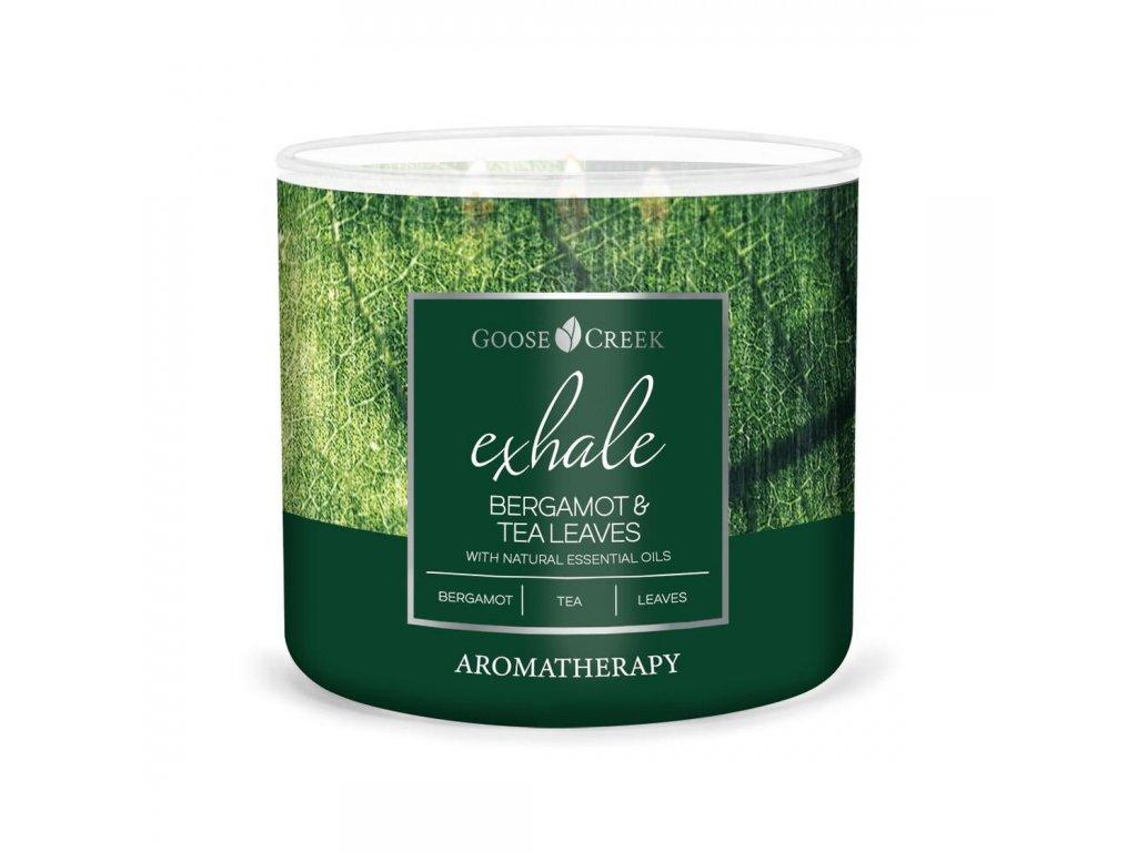bergamot tea leaves exhale 3 docht kerze 411g