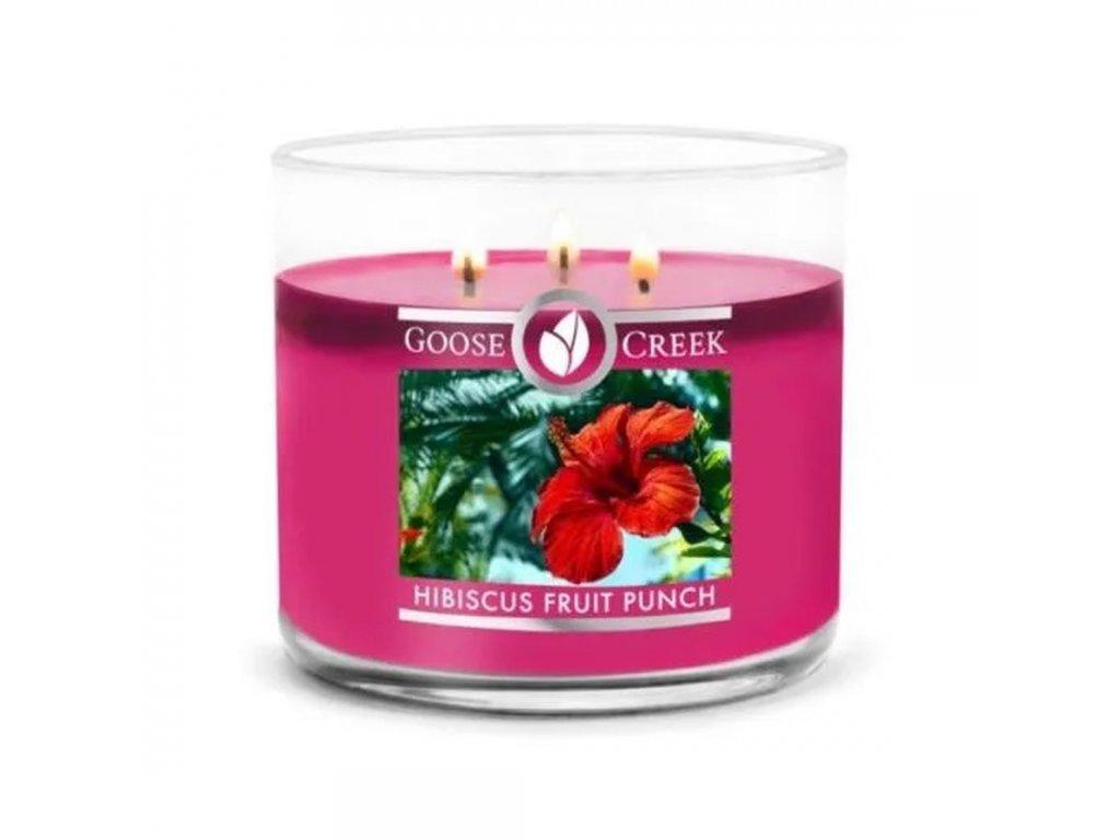 hibiscus fruit punch 3 docht kerze 411g