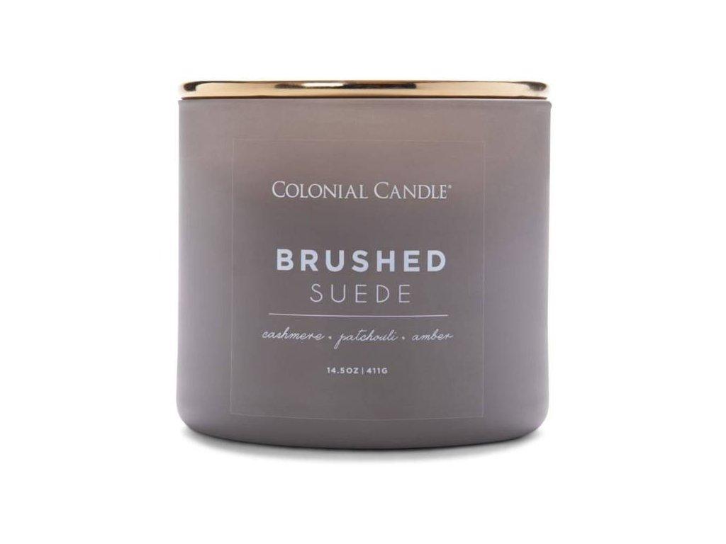 pol pm Colonial Candle Pop Of Color sojowa swieca zapachowa w szkle 3 knoty 14 5 oz 411 g Brushed Suede 8569 3