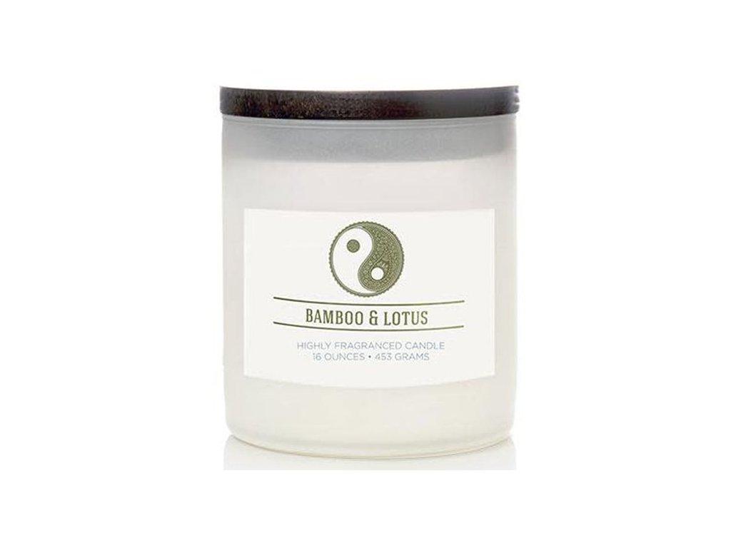 pol pm Colonial Candle swieca zapachowa sojowa w szkle naturalna 16 oz 453 g Bamboo Lotus 8589 1