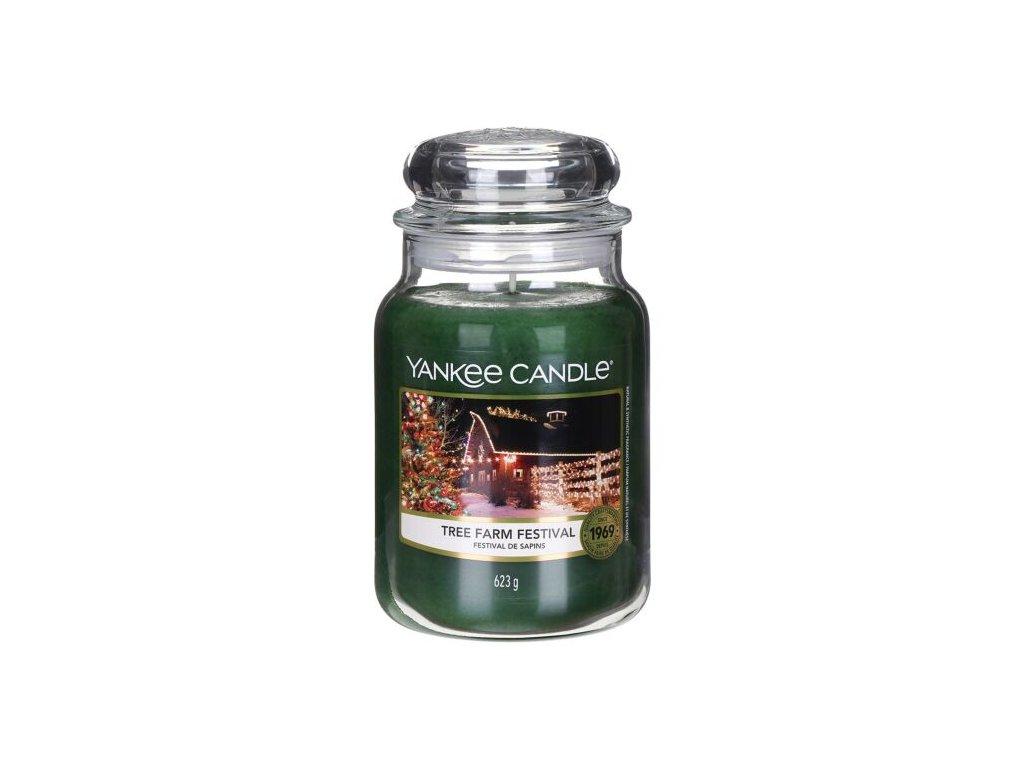 yankee candle 1631359e tree farm festival large jar candle