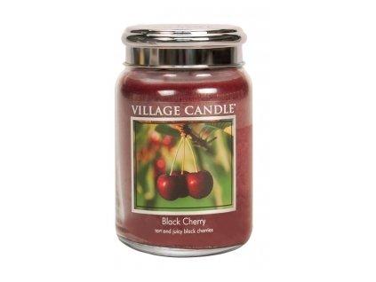 Village Candle Vonná svíčka Černá Třešeň - Black Cherry, 602 g