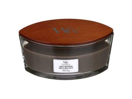WoodWick Svíčka loď Sand & Driftwood, 453 g
