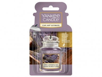 Yankee Candle Dried Lavender & Oak Gelová aroma visačka do auta, 1ks