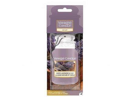 Yankee Candle Dried Lavender & Oak Vůně do auta Papírová auto visačka 1 ks