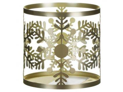 Yankee Candle Svícen na velkou a střední svíčku Snowflake Frost