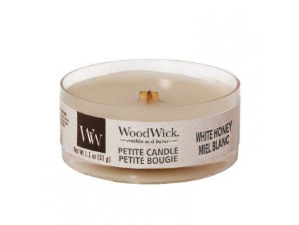WoodWick Svíčka Petite White Honey, 31 g