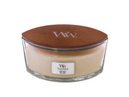 WoodWick Svíčka loď White Honey, 453 g