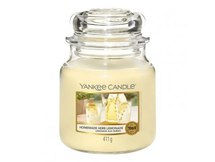 Yankee Candle Vonná Svíčka Homemade Herb Lemonade classic střední, 411 g