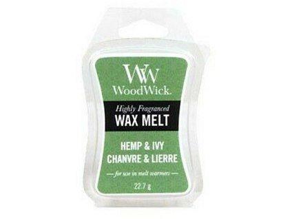 WoodWick Vonný vosk do aromalampy Hemp & Ivy, 22,7 g