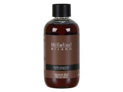 Millefiori Milano Natural náplň do aroma difuzéru Sandalo Bergamotto, 250 ml