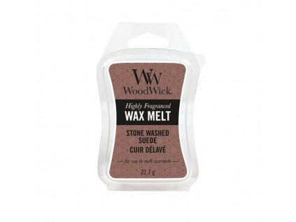 WoodWick Vonný vosk do aromalampy Stone Washed Suede, 22,7 g